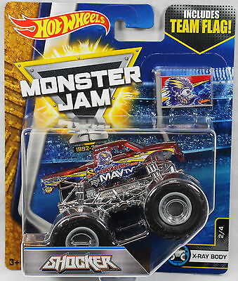 2017 Hot Wheels Monster Jam 1:64 Scale with Team Flag - Shocker