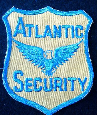 Atlantic Security Embroidered Sew On Only Patch Advertising Uniform Yellow