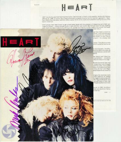 Heart Bad Animals Press Kit signed by Ann & Nancy Wilson, Denny, Howard and Mark