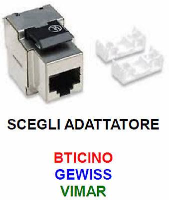PRESA DI RETE CAT.6 STP PER BTICINO GEWISS VIMAR RJ45 LAN - MATERIALE ELETTRICO
