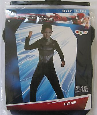 Amazing Spider Man Kids Costume (NEW The Amazing Spider-Man 2 Electro Costume by Disguise Dress Up Child Small 6)
