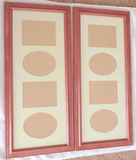 *FREE* - 2 x PINK VERTICAL COLLAGE PHOTO FRAMES TO HOLD 8 PHOTOS Tenambit Maitland Area Preview