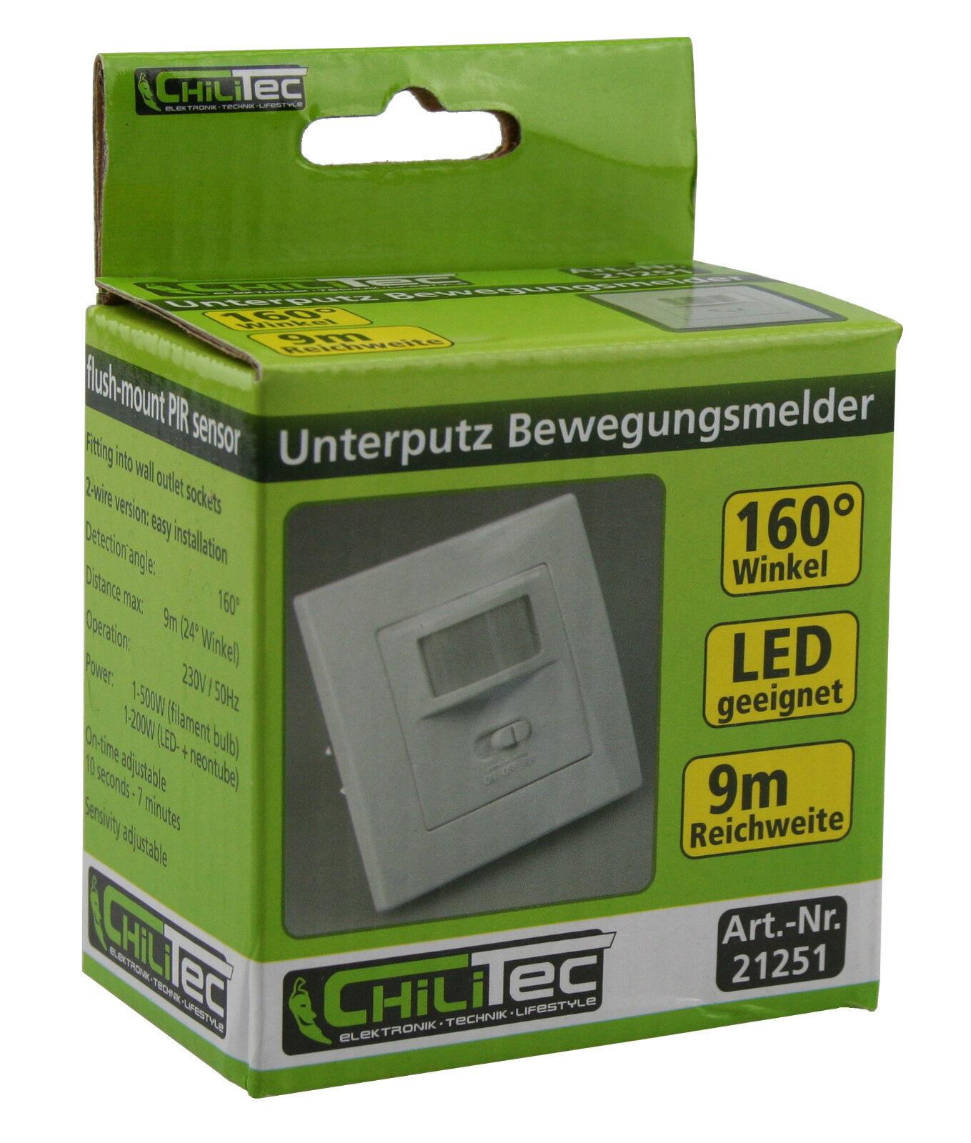 Bewegungsmelder LED geeignet 160° UP Unterputz Montage 2 Draht ...