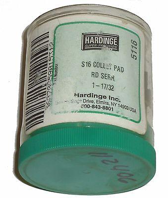 New Hardinge 1-1732 Round Serrated S16 Collet Pad Set