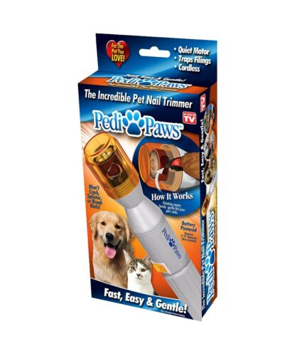 New Pedi Paws Pet Nail Trimmer Clipper Grooming Tool Dog Cat