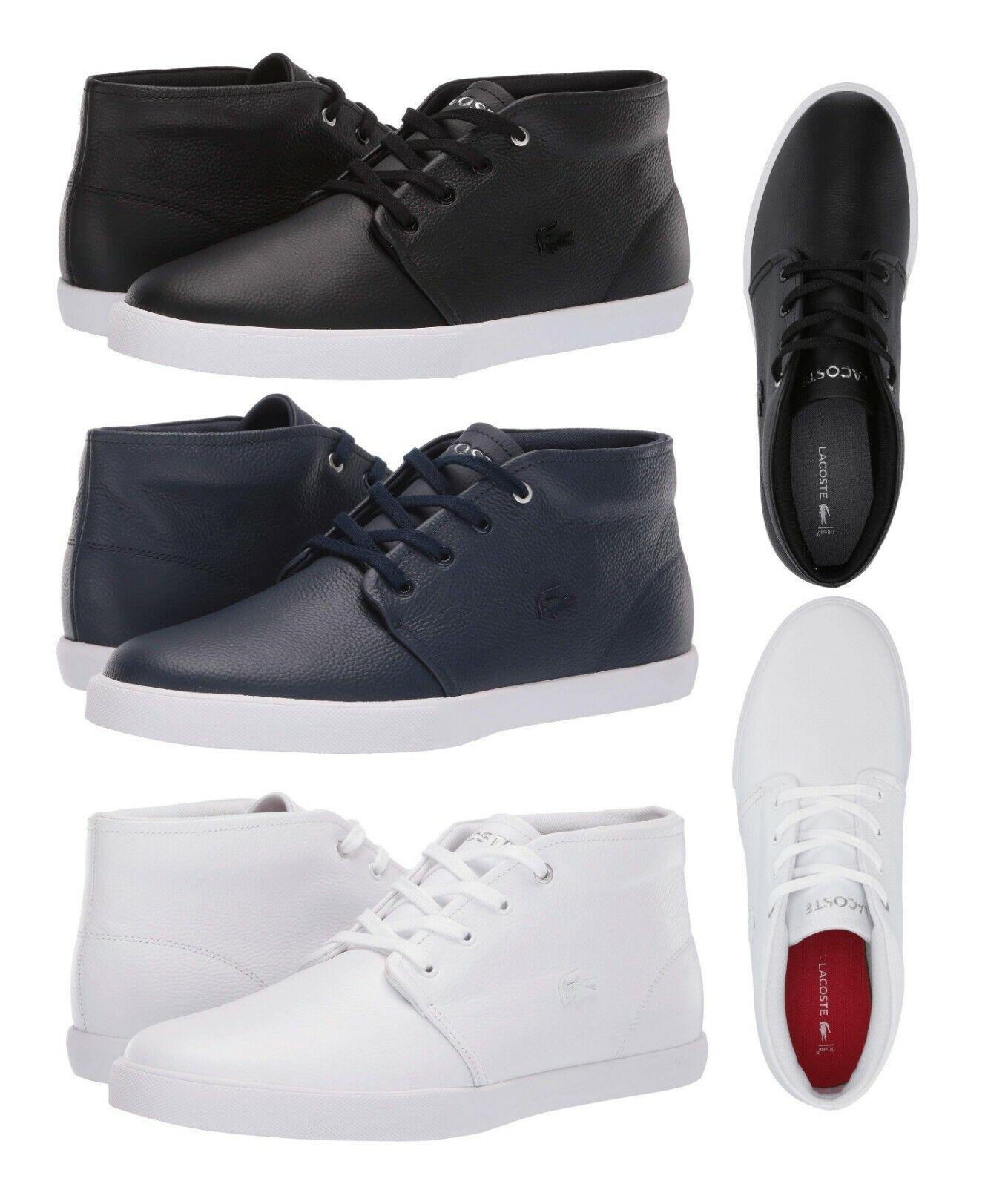 Lacoste Asparta 119 Men's Fashion High Top Croc Logo Leather Shoes Sneakers