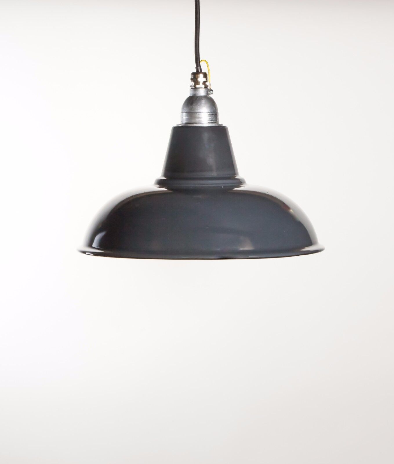 Details About Morley Factory Enamel Ceiling Pendant Light Vintage