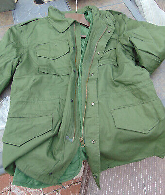 Spanish M-65 O.D. Field Jacket with liner, Size XXL in new non-issued condition (Size In Spanish)