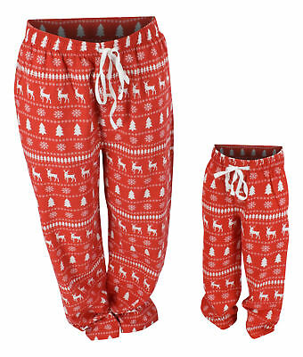 UB Winter Print Matching Family Christmas Pajama Pants Mommy Daddy and Me Outfit](Christmas Family Outfit)
