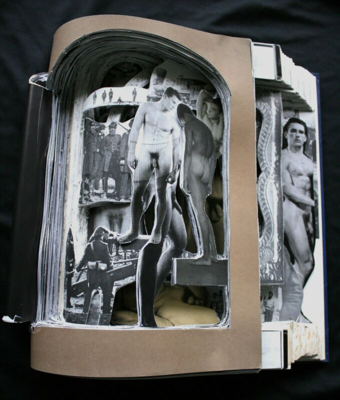 "Altered Book Sculpture ""Male Nudes""artist D. Rosendahl~gay~20% Human Rights"