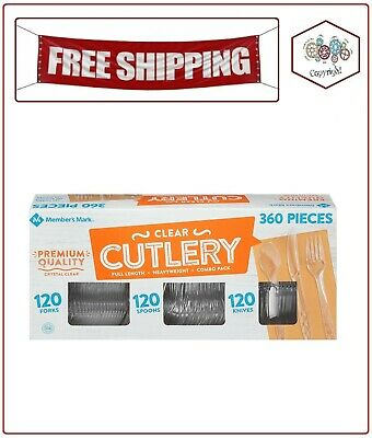 Member's Mark Clear Cutlery Combo Pack (360 ct.)