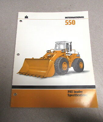 International Hough Dresser 550 Pay Loader Brochure Specifications Manual 1981
