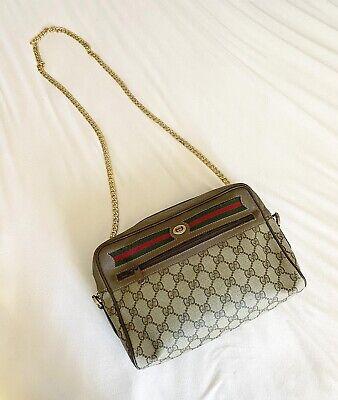 Authentic Vintage GUCCI Monogram GG purse BAG Cross-body