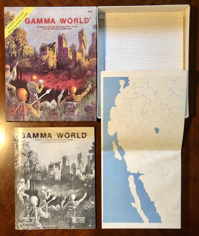 TSR Gamma World #3002 Box Set with Dice Vintage 1981 3rd Edition RPG Fantasy D&D
