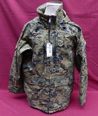 NEW..USMC GORE-TEX PARKA JACKET MARPAT DIGITAL WOODLAND PARKA MEDIUM REGULAR S