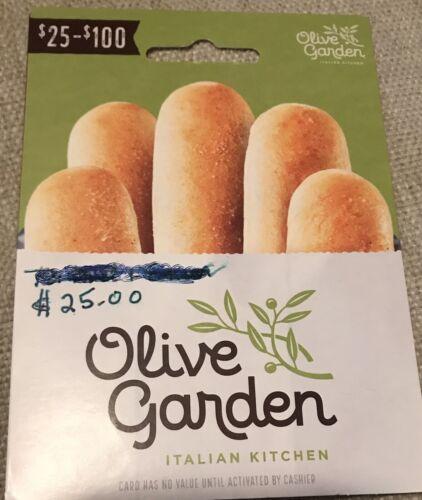 Olive Garden Gift Card 25.00 - $18.00