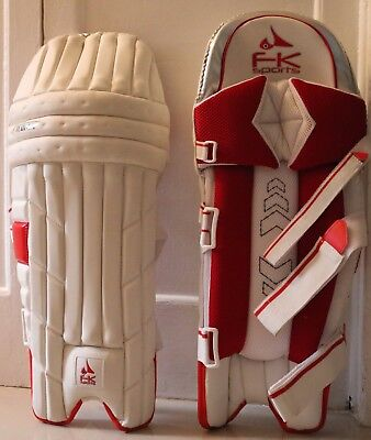 FK Men Cricket Batting Pads Left hand White / Red - New for 2017