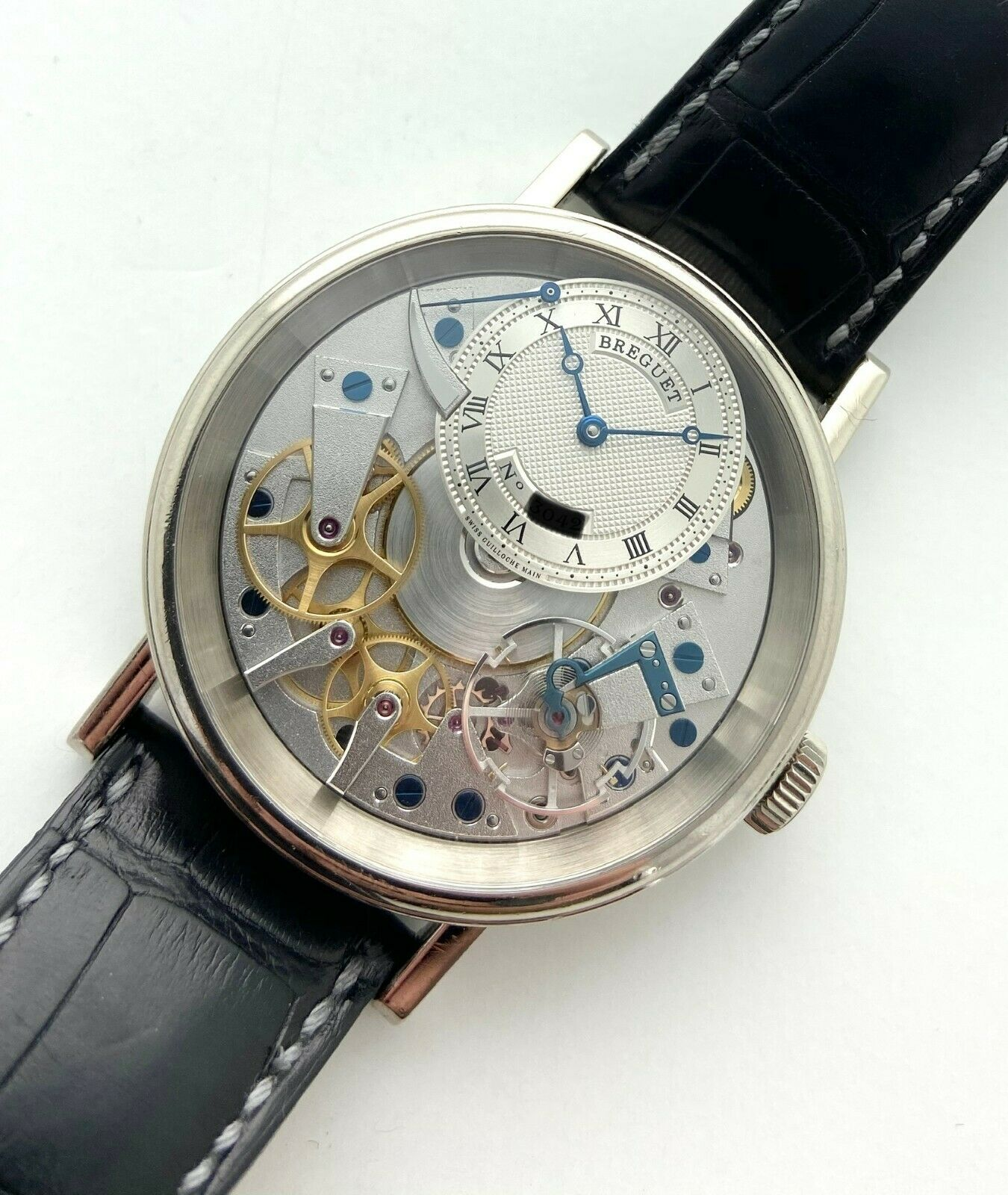 BREGUET – REF 7057 La Tradition 18k White Gold 41mm with Deployant Circa 2014 - watch picture 1