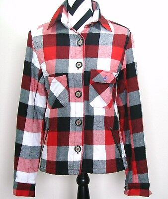 Isabella Rose Taylor Flannel Cotton Contrast Lined Boho Jacket XS Womens Red