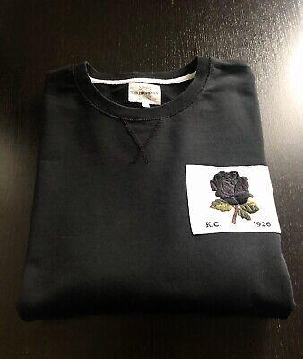 KENT & CURWEN English Rose 1926 Black Cotton Sweater/Jumper XL