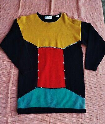 80s Sweatshirts, Sweaters, Vests | Women vintage 80's Isabella da France block colour long jumper pullover sz M 12 / 14 $18.56 AT vintagedancer.com