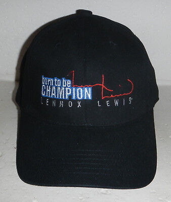 NWOT Lennox Lewis Pro Boxer Born to be a Champion Baseball Hat Cap FlexFit OSFM