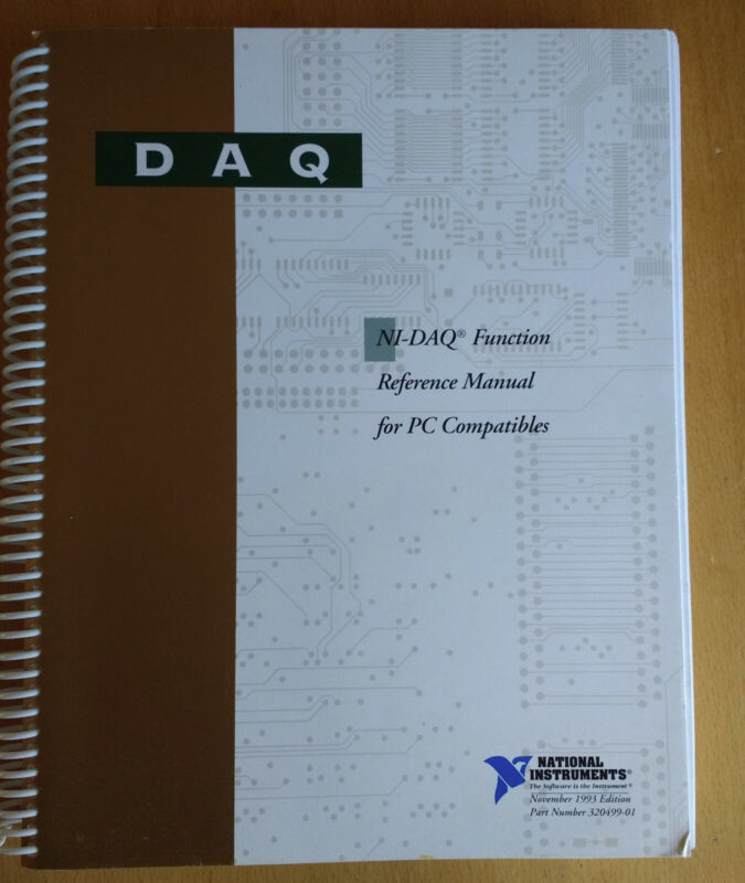 National Instruments NI-DAQ Software Library For LabWindows With Manual