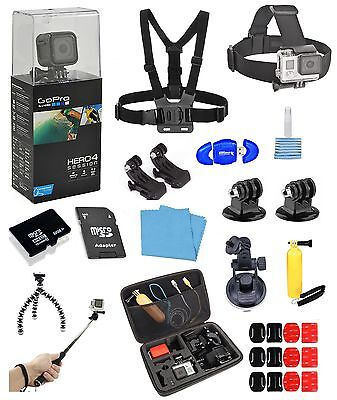 GoPro HERO4 Hearing + 16 Piece PRO all in one Bundle  *BRAND NEW*