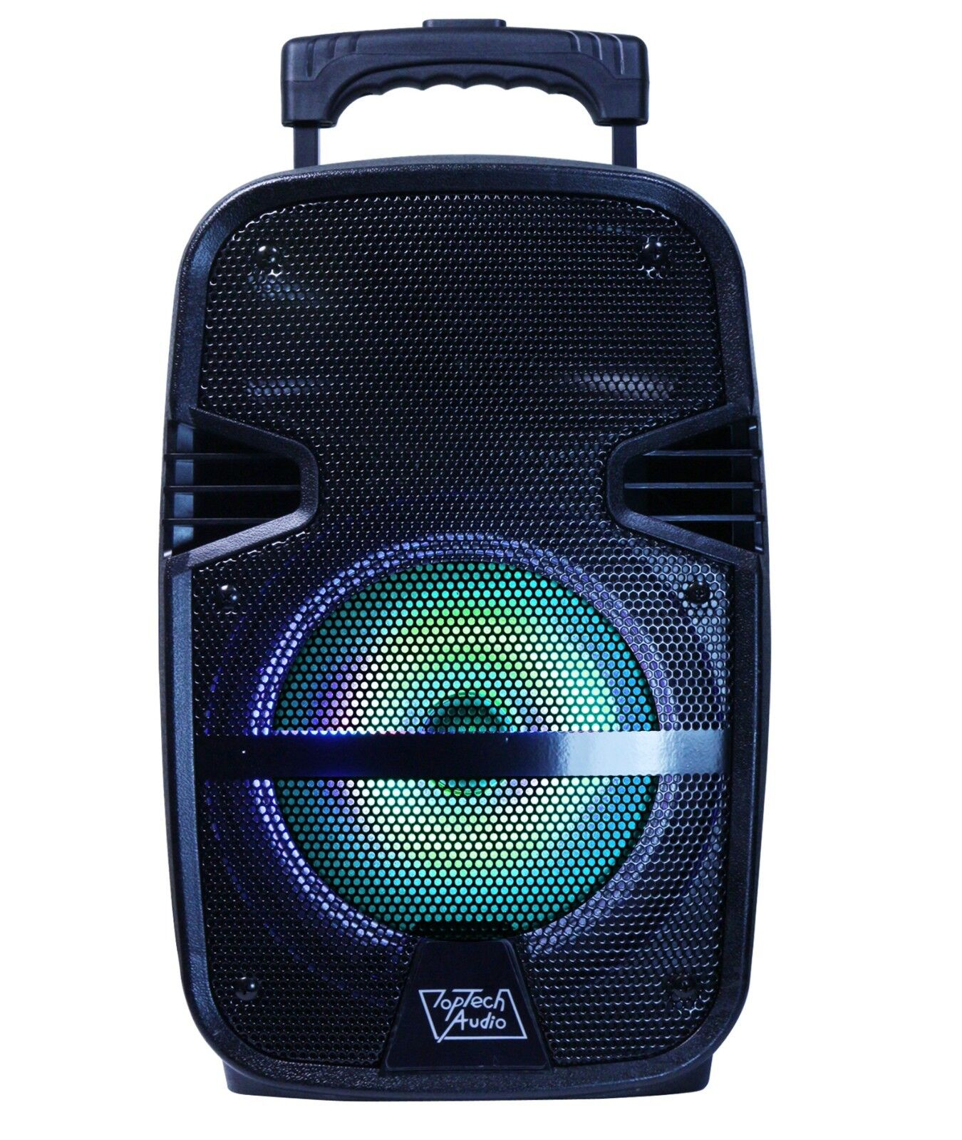 "8"" Portable 1600 Watts Bluetooth Speaker w/ LED Light & Ha"