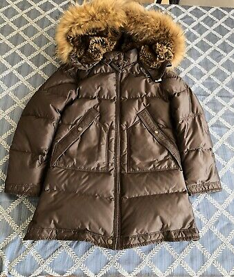 AUTHENTIC PARAJUMPERS YOUTH SMALL LONG PARKA FUR GIRLS KIDS PJS size 8