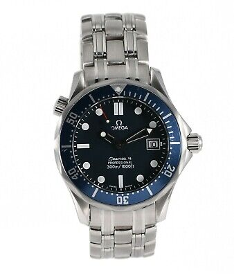 Omega Seamaster Stainless Steel Watch 36mm Case Blue Dial With 18cm Strap