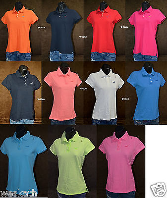 NWT HOLLISTER HCO by Abercrombie A F WOMENS POLO SHIRT TOP Cotton Pique Collared