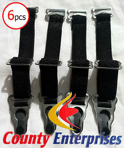 Set of 6 Brand New Stain less Steel Suspender Clip Garters for Corset & Stocking