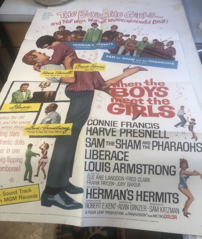 WHEN THE BOYS MEET THE GIRLS, orig 1-sh (Connie Francis, Herman