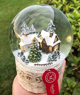 Christmas Tree Snow Globe Cabin Home Decor Musical Water Dome New Holiday Gift ()