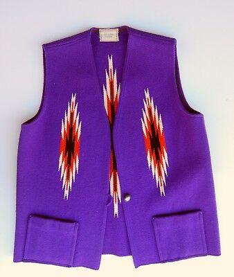 Ortega's Vintage Wool Chimayo Vest - New Mexico