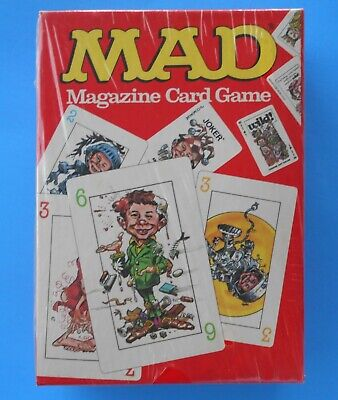 MAD MAGAZINE CARD GAME PARKER BROTHERS NEW SEALED 1980 CARD MAD MAGAZINE GAME