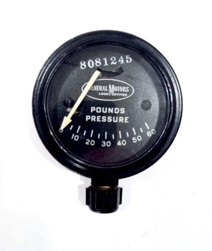 Vintage General Motors EMD Railroad Locomotive Pressure Gauge Nice