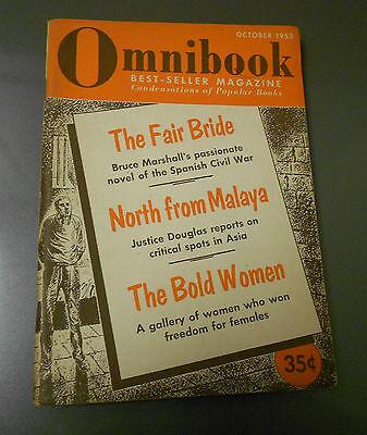 1953 Oct OMNIBOOK Digest Magazine FN- Best-Sellers SPANISH CIVIL
