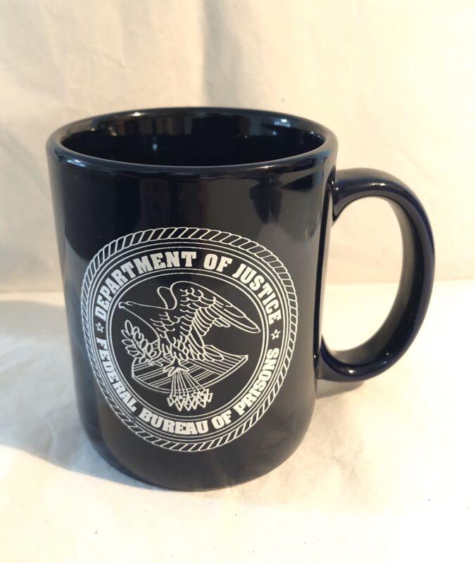 DOJ Federal Bureau Of Prisons Coffee Mug *Navy Blue*