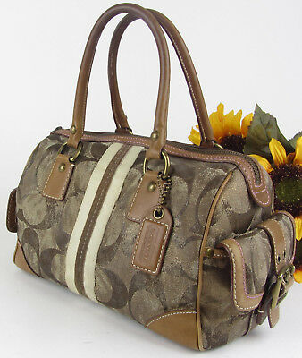 RARE Coach LTD 10012 Bronze Metallic Tye Tie Dye Signature Satchel Tote Bag Purs