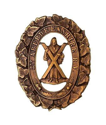 2nd Aberdeenshire Rifle Volunteers Cap Badge Brass Metal