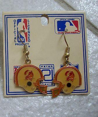 1980's Tampa Bay Buccaneers Dangle HELMET Earrings - Peter David - NEW Old Stock