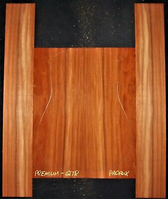 Guitar Luthier Tonewood QUARTERSAWN PADAUK Acoustic backs sides SET
