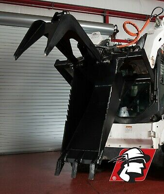 Track Loader Skid Steer Heavy Duty Stump Bucket Universal Fit Hydraulic