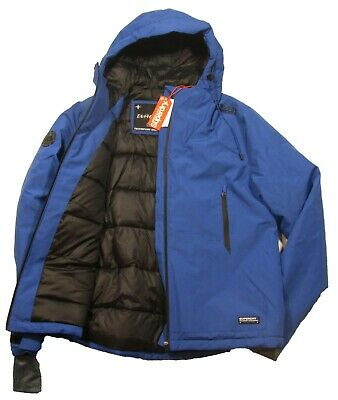 Superdry Men's Electric Blue Padded Elite Windcheater Hooded Jacket