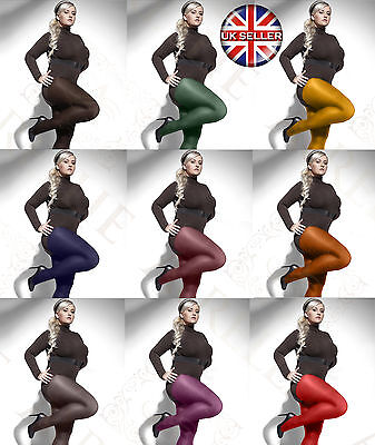 40 Denier Classic Microfiber Tights PLUS SIZE HOSIERY XL-4XL Range Colours - Microfiber Plus Size Tights