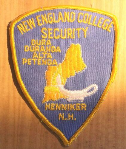 GEMSCO NOS Vintage Patch SECURITY NEW ENGLAND COLLEGE NH - Original 50+