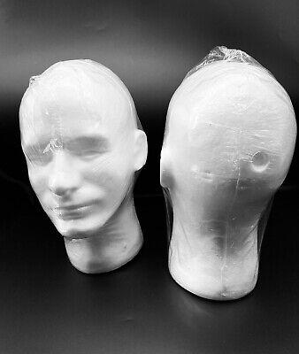 2-male Mannequin Styrofoam Foam Manikin Head Model Wig Hat Display Stand 11