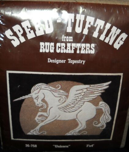 VINTAGE SPEED TUFTING RUG CRAFTERS UNICORN 3